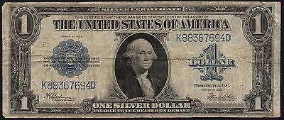 1923 Series United States $1 Silver Certificate Banknote - Horse Blanket