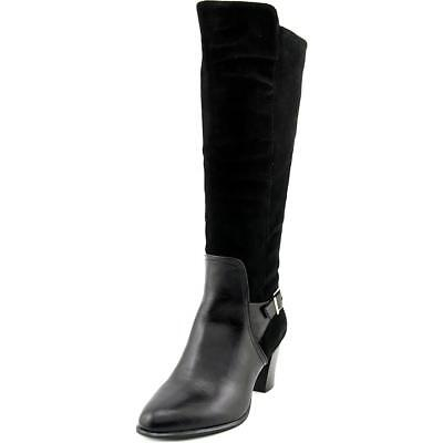 Alfani Careeni Women  Round Toe Suede Black Knee High Boot