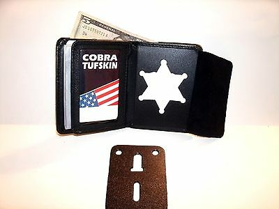Benzie Co Michigan SHERIFF'S 6 point star BADGE WALLET RECESSED CT-10 Bi Fold