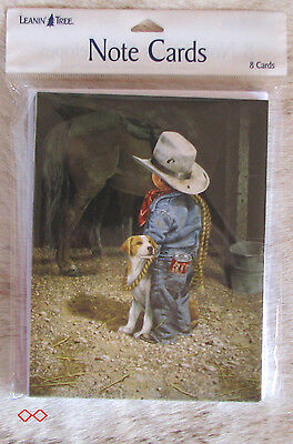 LEANIN TREE Cowkid - Pop Can in Pocket - with His Dog #35079 ~ 8 Notecards ~