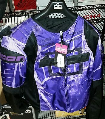 Icon Women's Overlord T1 Purple Jacket - XL