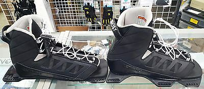 NEW Connelly Shadow Waterski Dbl Boot Set- Large - Mens 9 to 11- Fits HO Skis