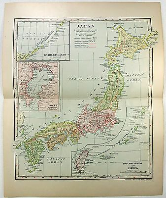 Original 1903 Dated Map of Japan by Dodd Mead & Company