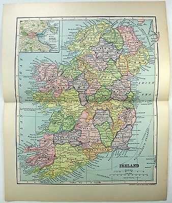 Original 1903 Dated Map of Ireland by Dodd Mead & Company
