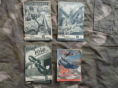 ww2 hungarian booklets about war 1940-44 4 pieces