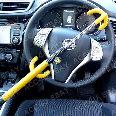 For Nissan Qashqai Car Double Claw Anti Theft High Security Steering Wheel Lock