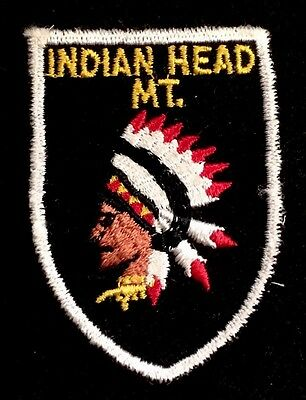 INDIAN HEAD MOUNTAIN Skiing Patch Wakefield MICHIGAN MI Souvenir Travel MINT