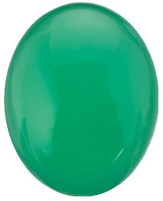 Natural Fine Apple Green Chrysoprase - Oval Cabochon - Brazil - AAA Grade