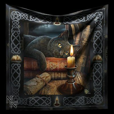 Altarcloth Black Cat - The Witching Hour by Lisa Parker - Altar Blanket Decor