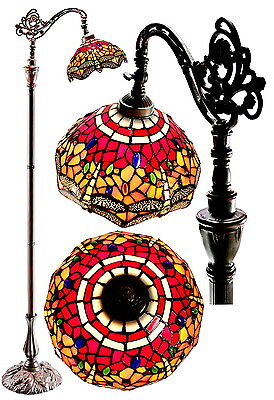 Joanne Tiffany@Classical Red DragonflyTop Quality Bridge Tiffany Floor Lamp