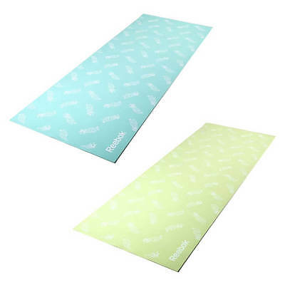 Reebok Double Sided Yoga Mat 4mm Thick Non Slip Chic Pattern Exercise Fitness