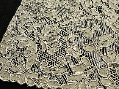 FABULOUS Antique FRENCH ALENCON LACE Set of 12 Placemats FLOWERS Ecru Hand Run