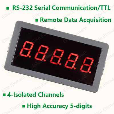 RS232 TTL Ammeter High Accuracy 50.000A Remote Data Acquisition On-line Working