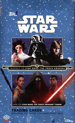 2015 Topps Star Wars Journey To The Force Awakens Hobby Box Sealed New