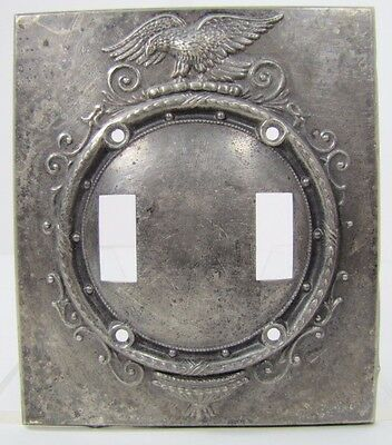 Old Spread Winged Eagle Double Wall Switch Plate Cover architectural hardware