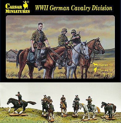 Caesar Miniatures 1/72 092 WWII German Cavalry Division (13 Mounted Figures)