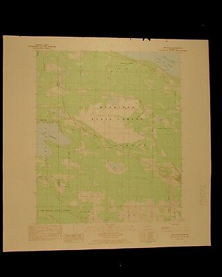 Freedom Michigan vintage 1983 original USGS Topographical chart