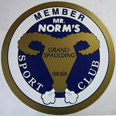 """Mr. Norms Sports Club Metal Sign 26""""  Baked Enamel"""