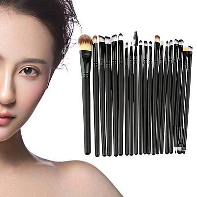 20 pz Pro Trucco Cosmetici Pennelli Make Up Foundation Brush Set Nuovo YY