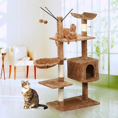 2016 New 148cm Cat Scratching Post Tree Furniture Pet Play Kitten House Tower AU
