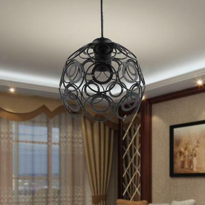 Foral Pendant Lighting Retro Hanging Lampshade Ceiling Light Fixture No Wire