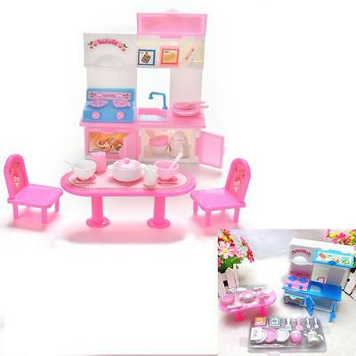 20 Pcs/lot Creative Kitchenware Dinner Tables Cupboard Sink for Barbies Dolls HP