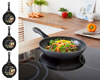 20/24/28cm Non-Stick Marble Ceramic Stone Coating Induction Frying Cooking Pan