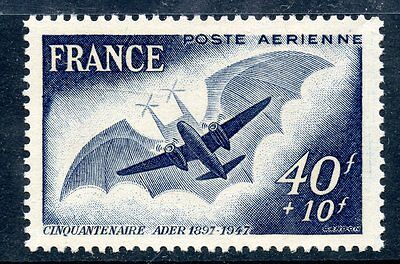 Stamp / Timbre France Neuf Poste Aerienne N° 23 ** Avion Ader