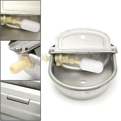 2.5L Automatic Water Trough Stainless Steel Sheep Dog Chicken Cow Auto Fill Bowl