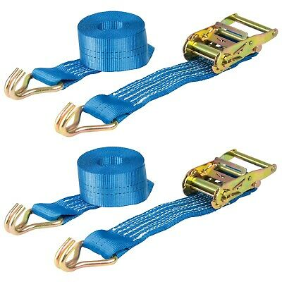 Pair of Ratchet Straps 3m x 50mm  Heavy Duty Tie Down 2000kg