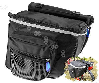Practical Double Waterproof Bicycle Rear Rack Pannier Top Bag Bikecycle Commuter