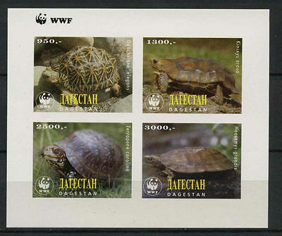 Dagestan Turtles WWF MNH Imperf M/S #A68050