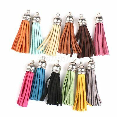 15x Velvet Tassels Pendants Key Chain DIY Craft Sewing Curtains 40MM Colourful