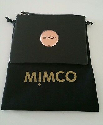 Mimco Black Rose Gold Medium Pouch Wallet Rrp$99.95 Brand New W Tags & Dustbag