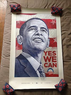 """Obama """"Yes We Can"""" official poster print by Antar Dayal Not Fairey Numbered"""