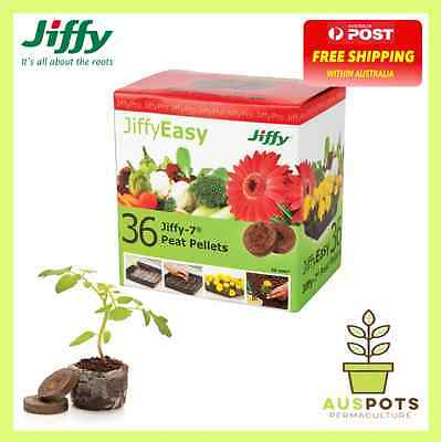 Jiffy 36mm Peat Pellets x 36pcs - ideal growing medium for seeds
