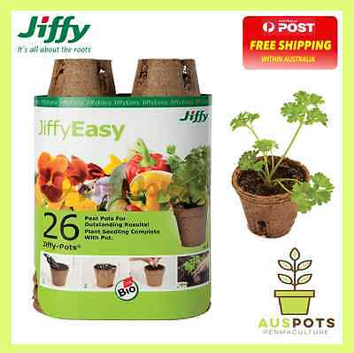 Jiffy 60mm Round Peat Pot - 26 Pack - make seed raising progation easy