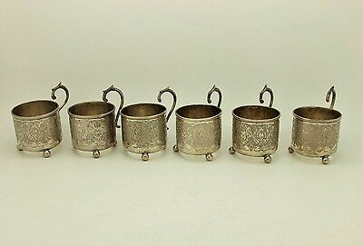 Antique Original Full Silver Handmade Islamic Persian 6 Pieces Set