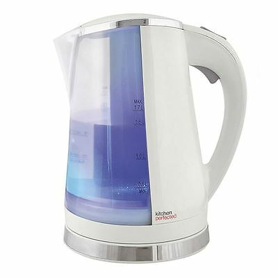 New Codless 360 Dual Illuminated Electric Jug Kettle 2200w 1.7L White