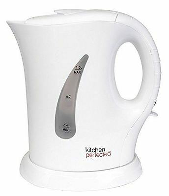 New Cordless Electric Jug Kettle 1L 900W Kitchen Perfected Fast Boil - White