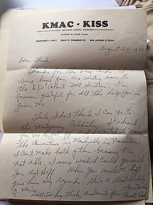 1954 Grand Ole Opry Star Charlie Walker Handwritten  KMAC Letter To His Manager