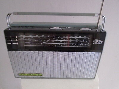 VINTAGE 60s PERDIO LARGE RADIO TOWN & COUNTRY BATTERY  WORKING CAMPER RADIO