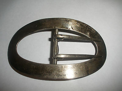 """Antique George A Henckel & Co Sterling Silver 925 Large 4"""" Oval Sash Buckle 385"""