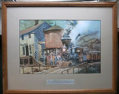 JAN RONS Original Watercolor of Beaver Brook Station on the Colorado Central