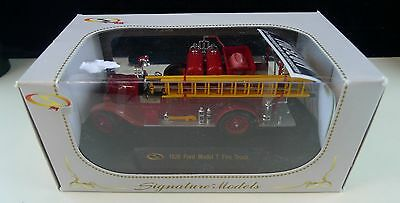Signature Models 1926 Ford Model T Fire Truck (Red)  1:32 Scale Die-Cast
