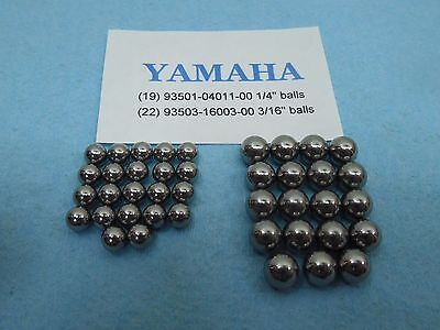 Yamaha Scooter Steering Stem Fork new Ball Bearings (22 small & 19 big)