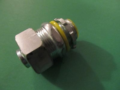 """Hubbell - Raco 3512 Straight Connector, 1/2"""" dia Insulated Liquidtight Connector"""