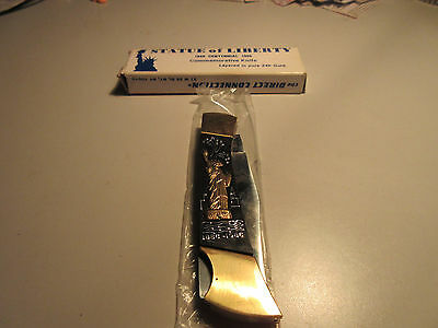 STATUE of LIBERTY CENTENNIAL KNIFE - 24K GOLD - NEW in BOX