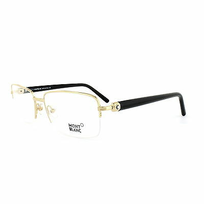 Mont Blanc Glasses Frames 0487 030 Bright Gold & Black