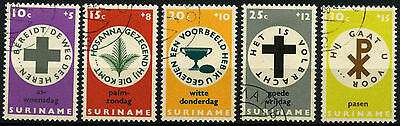 Suriname 1968 SG#626-630 Easter Charity Cto Used Set #D34436